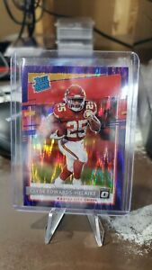 2020 Donruss Optic Clyde Edwards-Helaire Purple Shock Rated Rookie RC #171 P763