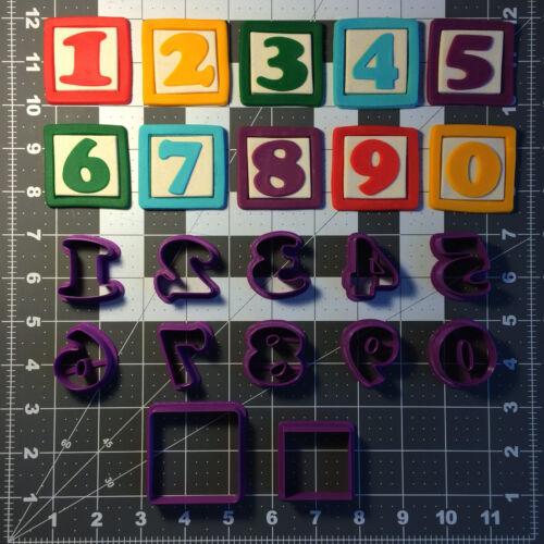Alphabet block police numéro Cookie Cutter Set Complet