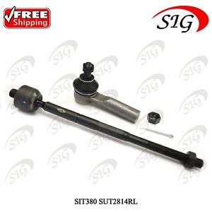 Front Inner Tie Rod End Pair for 1995 1996 1997 Nissan 200SX 1995-2006 Sentra