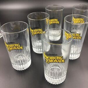 JACK-DANIEL-039-S-LYNCHBURG-LEMONADE-Set-of-6-with-recipe-on-back-6-034-Glasses