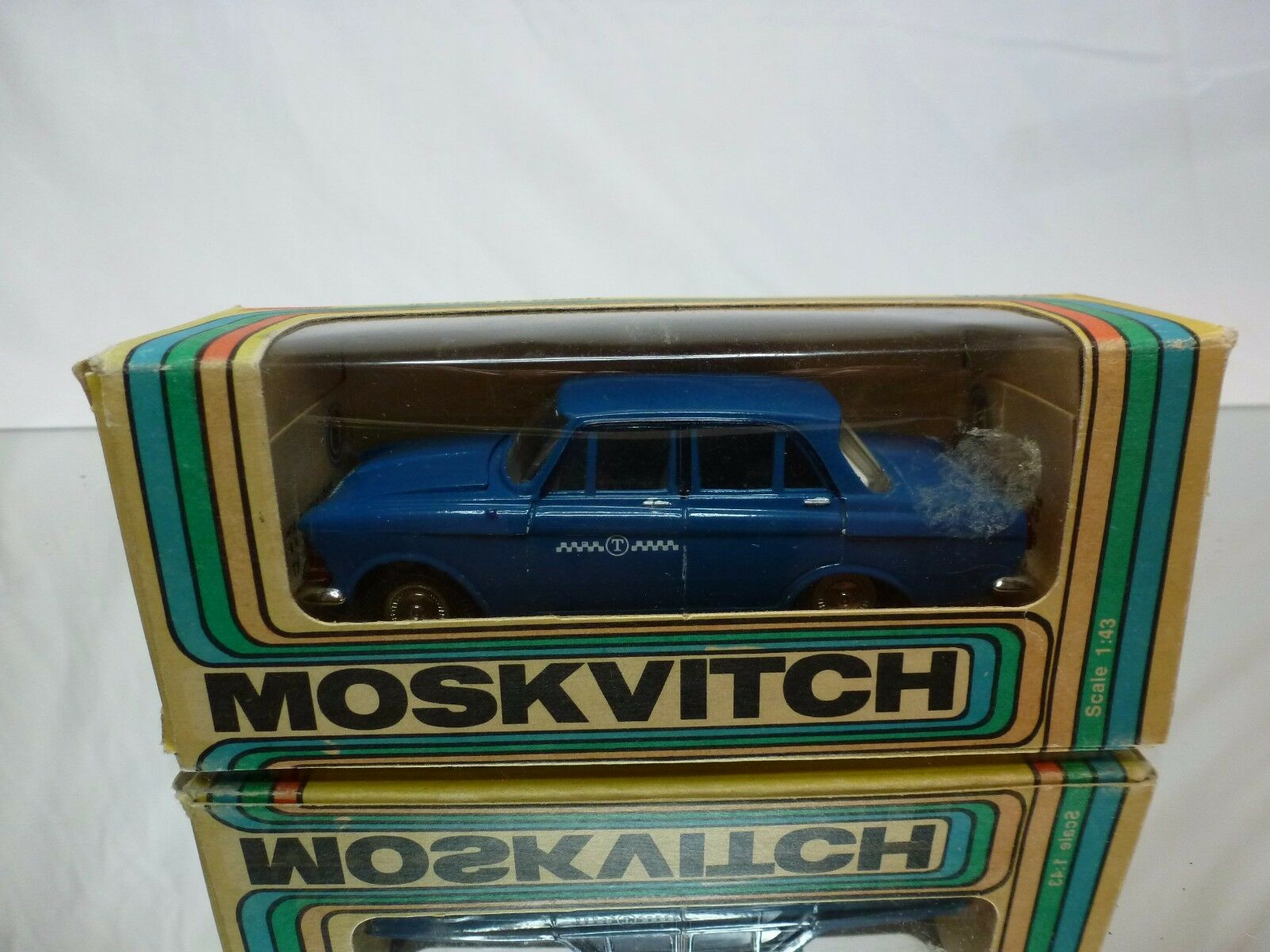 MADE IN CCCP USSR - MOSKVITCH 408 - TAXI blu 1 43 - GOOD CONDITION IN BOX