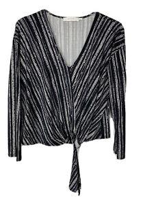 ASTR the label Womens Bernadette Long Sleeve, Black/White