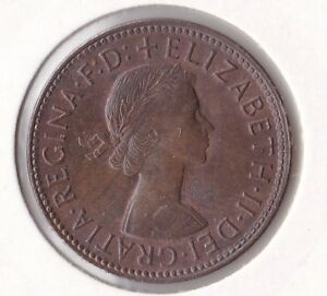 CB300-Australia-1959-Halfpenny-GEM-uncirculated-Magnificent-lustred-coin