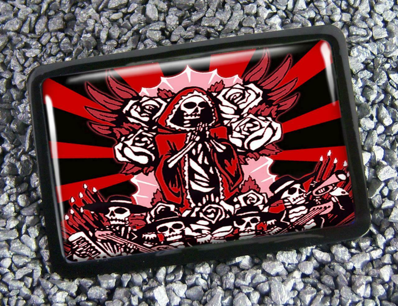 Guadalupe Day of the Dead Virgin Mary Handmade Belt Buckle