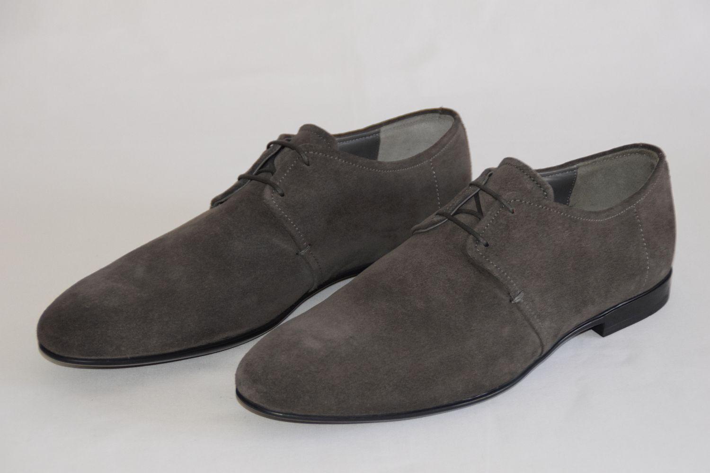 Hugo Boss Business zapatos, mod. parols, Talla EU 43 UK 9 us 10, Dark gris