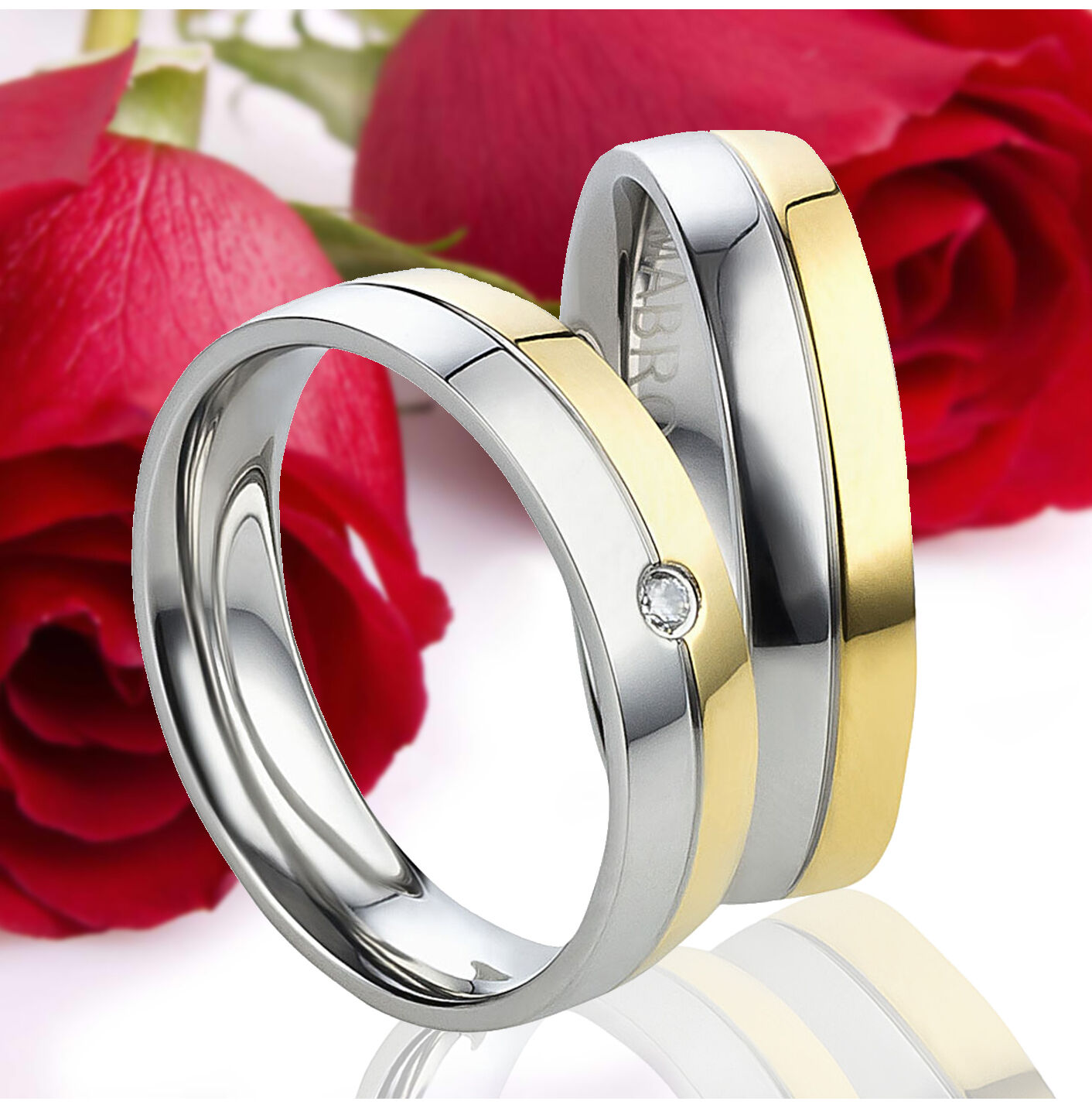 2 fedi nuziali vere di fidanzamento fedi fedi fedi oro placcati INCISIONE GRATIS te3116 6c7b53