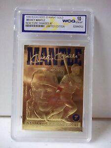 1996-Bleaches-Mickey-Mantle-23-Karat-Gold-WCG-Graded-Gem-Mint-10-MLB-Card-7