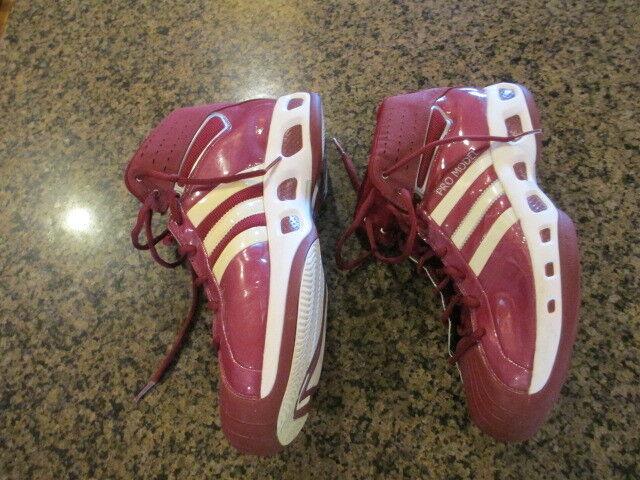 Adidas para hombre Pro Modelo Rojo Blanco Blanco Rojo Baloncesto 18 Hi High Tops Brillante Raya 3 fdb67f