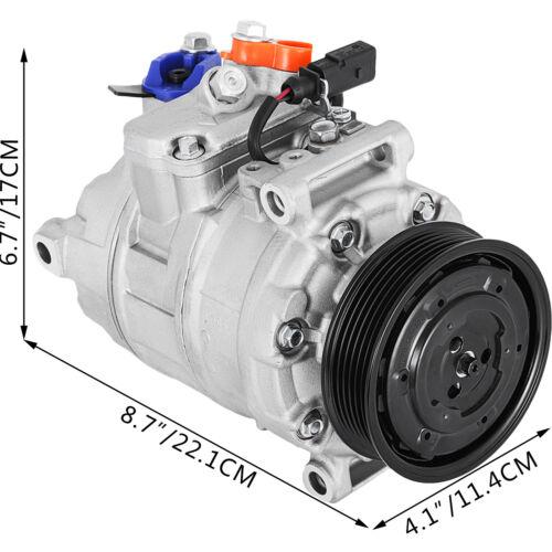 AC Compressor 10730 fit Audi A4 A6 2002 2003 2004 2005 2.0L 3.0L 98354 98348