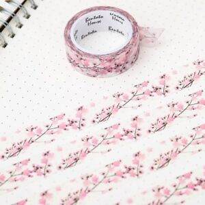 Floral-Washi-Tape-Scrapbooking-Cherry-Blossom-7M-Diary-Card-Adhesives-Masking