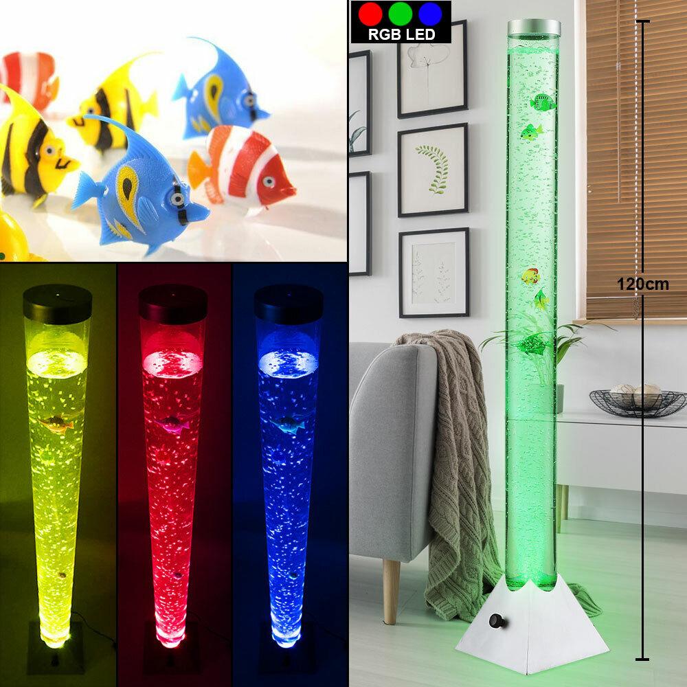 RGB LED Steh Lampe Wasser Säule Farbwechsel Leuchte Kabel Schalter Living-XXL