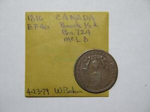 CANADA SIR ISAAC BROCK 1816 1/2 PENNY TOKEN EX:DONALD G PARTRICK BR-724 #THUR⭐🌈