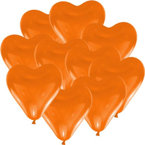in viele Farben Herzballons  Hochzeit Ballons Herz Luftballons Ø 15 cm 100 Stk