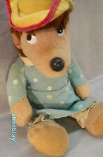 "Vintage Plush Toy Doll Figure Mama Berenstein Bear 13""  Blue Polk A Dot Dress"
