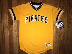 best service d7357 51e43 Details about Pittsburgh Pirates Jung Ho Kang Jersey Youth Large Majestic  New With Tags Yellow