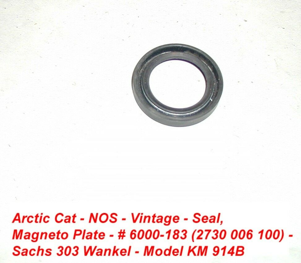 Arctic Cat Snowmobile Engine Oil Seal Vintage 1971 Panther 303W