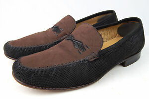 7a2ef6f3fad Image is loading Moreschi-Italian-Driving-Loafers-Black-Perforated-Leather- Shoes-