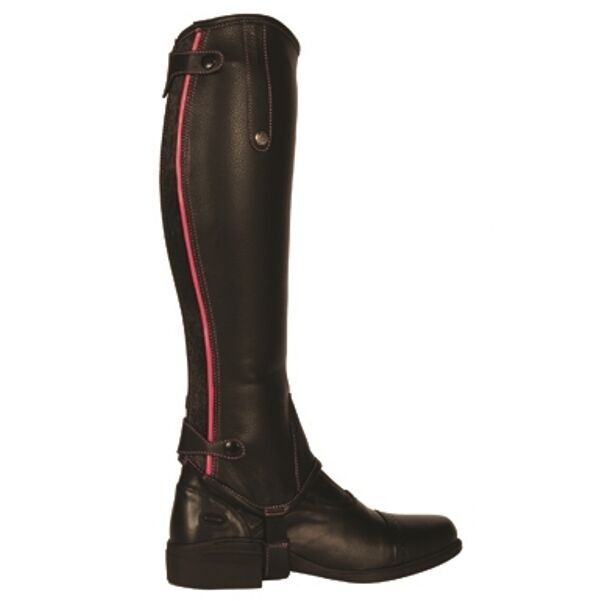 Mark Todd Soft Leather  Gaiters with contrasting Patent Piping  RRP .95 SALE  save up to 30-50% off