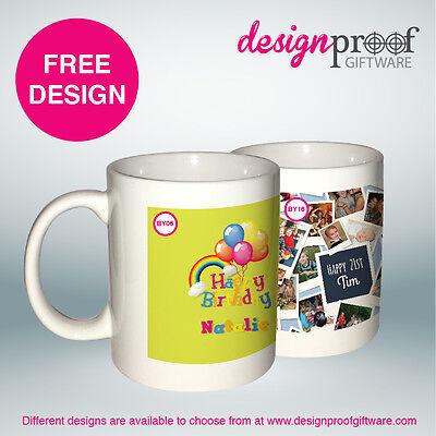 4 x Personalised Coffee Mugs