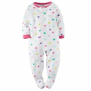 9d13b8635 Carter s NWT 2T Girl Heart PJ Fleece Footed Pajama Blanket Sleeper ...