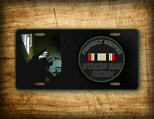 Operation Iraqi Freedom Veteran License Plate ~PROUDLY SERVED~ Auto Tag Military