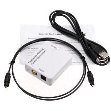 Digital zu Analog Audio Konverter Um Wandler Adapter Toslink Koaxial RCA Cinch *