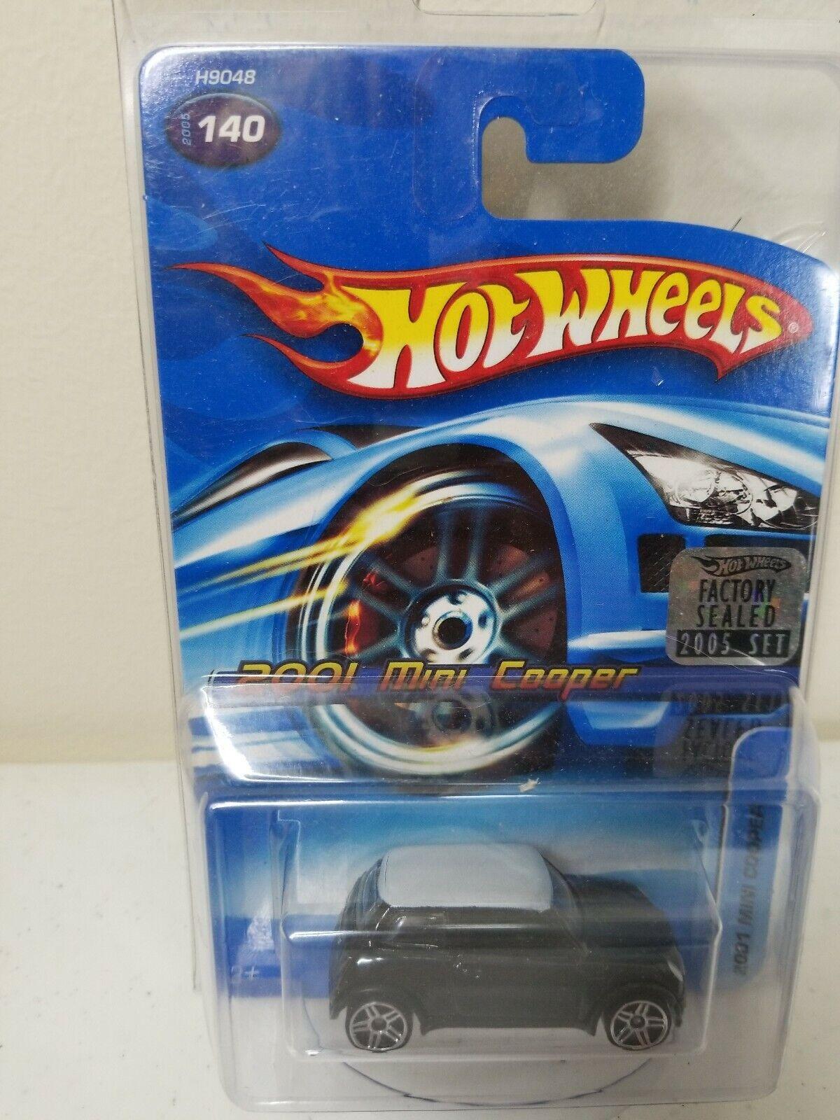 Hot Wheels, 2001 Mini Cooper 140, Factory Sealed 2005 Set