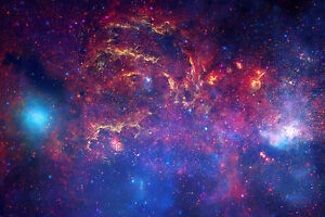 Space Picture Hubble Telescope Photo of the Centre of Our Galaxy Framed Print