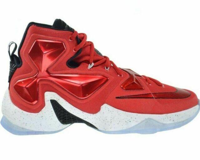 buy online 98ba1 e209a Nike Lebron XIII Sz 10 University Red White Black Laser Orange 807219 610