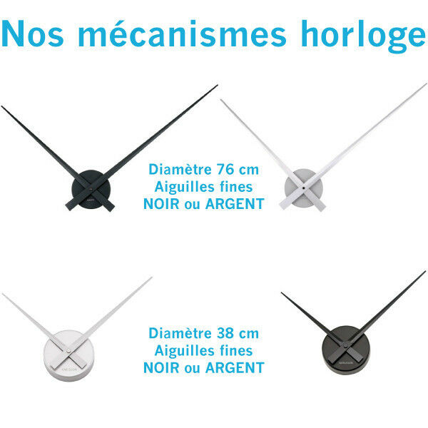 Sticker mural Horloge géante L'AIR ROMAINS+mécanisme DU TEMPS CHIFFRES ROMAINS+mécanisme L'AIR aiguilles b5fd25