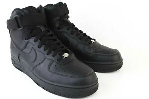 Details about Nike Air Force 1 High Top Triple Black 315121-032 Men's  Sneakers Size 10