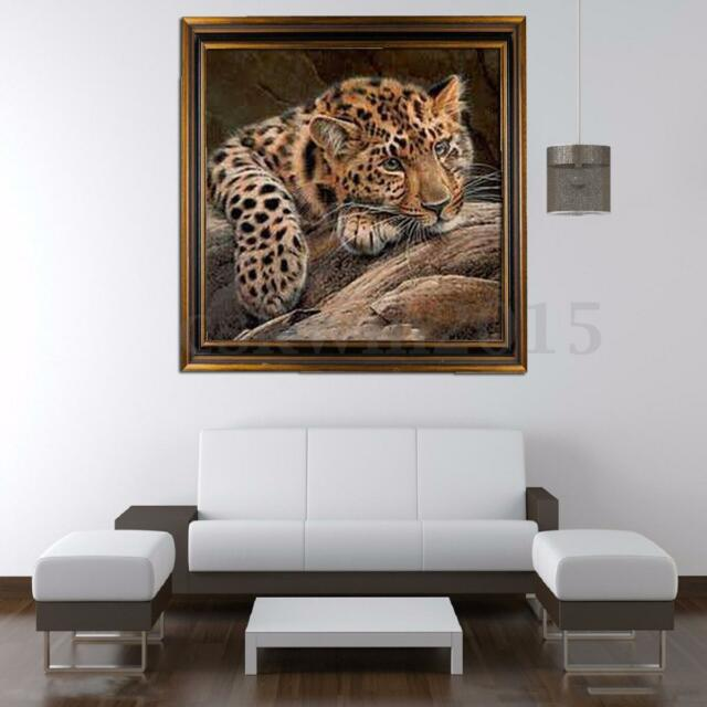 5D DIY Leopard Cheetah Diamond Cross Stitch Embroidery Painting Home Decoration