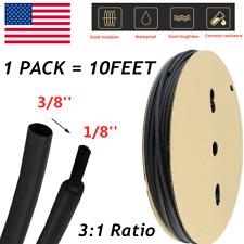 1 Roll 10 Ft 38 Inch 31 Waterproof Black Heat Shrink Tubing Kit Marine Grade