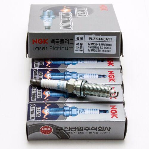 NGK  PLZKAR6A11  Laser Platinum Spark Plug  4PCS For Renault Group vehicles