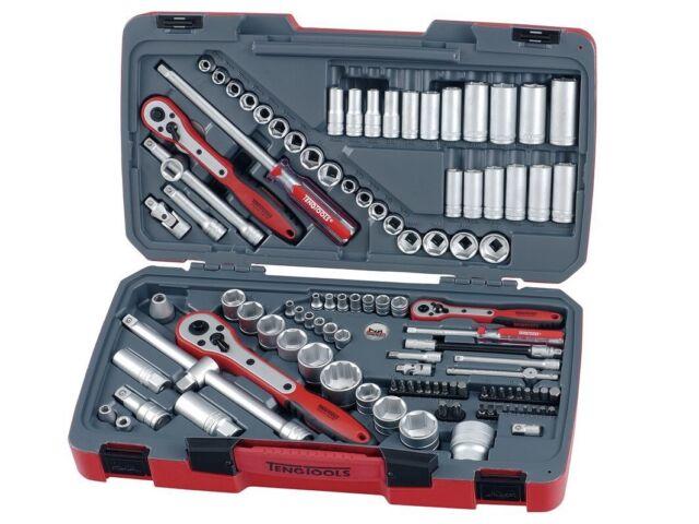 """Teng Tools Tm111 1/4"""" 1/2"""" 3/8"""" Socket Set"""