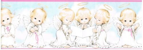 BABY TODDLER HALO ANGELS WITH WINGS Wallpaper bordeR Wall