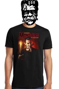 Famous-Monsters-Lugosi-Dracula-Graphic-T-Shirt-Preshrunk-Cotton-Mens-Unisex