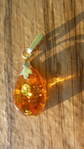 14 Carat gold setting with large Amber Pendant AMBER with GOLD SETTING European 585 Gold Amber 585 14k Gold Amber with many inclusions