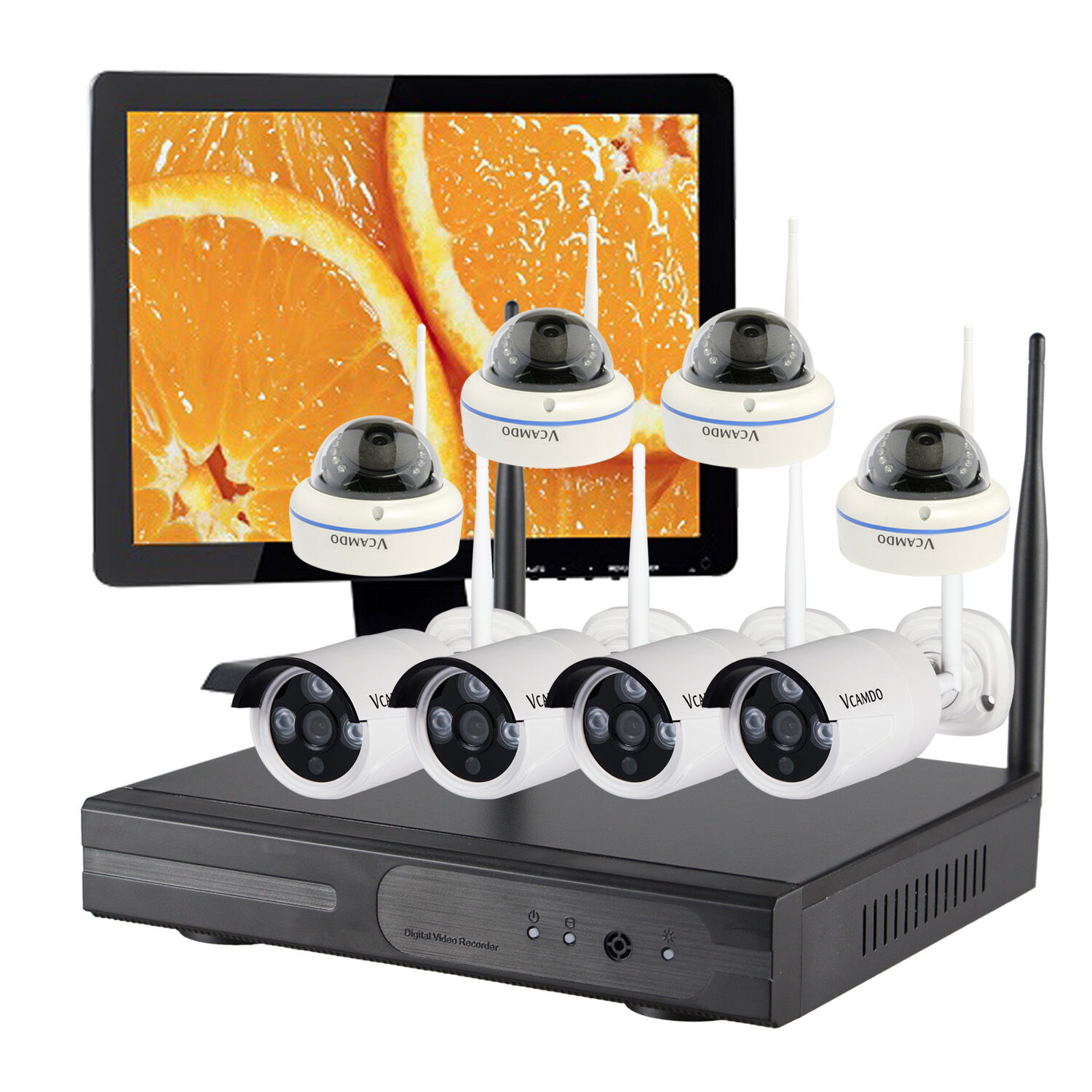 8CH Wireless Home CCTV System Security Surveillance WiFi IP Camera HDMI Monitor