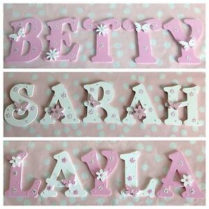 Personalised child kids bedroom wall door wooden letter name plaque sign plate ebay for Childrens bedroom door name plates