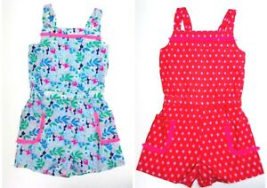 Girls-Playsuit-Printed-Pocket-Woven-Blue-Pink-Ex-Boden-Age-2-16-Years-RRP-28