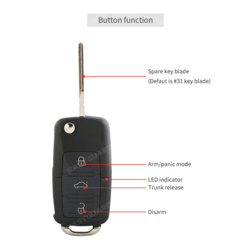 EASYGUARD Car Keyless entry kit central door lock locking DC12V remote unlock