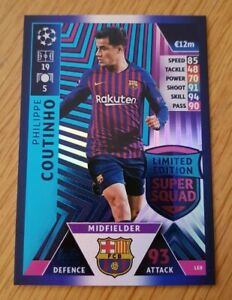 CHAMPIONS LEAGUE 2018 2019 LIMITED EDITION Philippe Coutinho