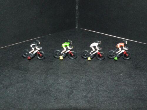 CMC4 Modell Zug Bemalt Radfahrer People Figuren X 4 Verschiedene 1//76 Maßstab