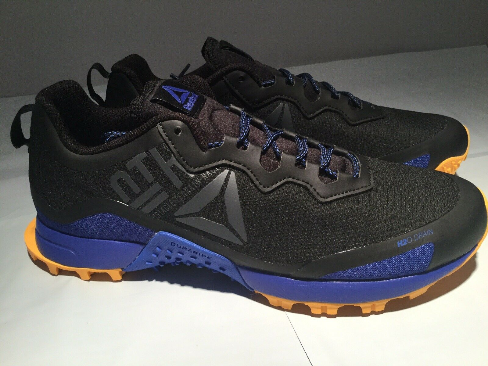 Reebok Terrain manía hombre CN6338 Trail All Zapatos Para Correr Negro Azul Amarillo 10.5M