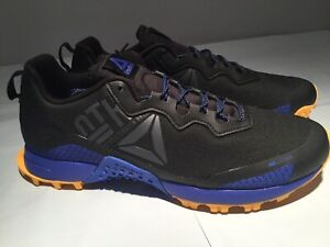 Details about reebok all terrain craze Men CN6338 Trail Running Shoes Black Blue Yellow Size 9