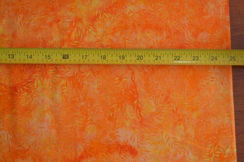 B494 By 1//2 Yd Indonesia Orange on Orange Batik Hoffman//J-2347-277 Koi