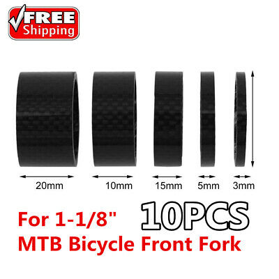 """6 Size Bike Washers Carbon 1-1//8/"""" MTB Cycle Stem Spacer Headset Fork Washer 11PC"""