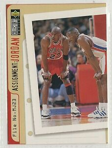 nba UPPER DECK 1996  MICHAEL JORDAN  Assignment PISTON  BASKETBALL CARD # 363