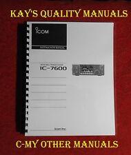Premium Card Stock Covers /& 28 LB Paper Icom IC-W2A IC-W2E Instruction manual